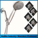 Simple Bathroom Brass Square Head Chromed Wall Mounted Shower Sets for Bathroom