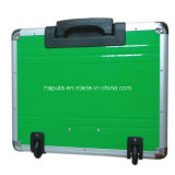 Aluminium Rolling Case with Integrated Trolley System Box (HP-3207)