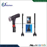 Smart Walking Stick with LED Light and 360 Deg Rotation and Colorful LED Lamp Antiskid Base