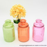 Colouful 500ml Candy Glass Jar with Glass Lid