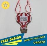 X-Eternal Gifts Wholesale Cmyk Printing Balloon Custom Club Zoo Sport Running Metal Medal Silk-Screen in Pantone Color with Lanyand