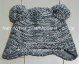 Winter Knitted Lurex Kids Earflap Hood Hat (HY092907)