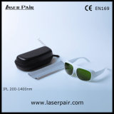 White Simple Frame 52 of IPL Protection Glasses/ Safety Goggles for IPL Machines 200-1400nm