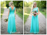 Sleeveless Bridesmaid Party Gown Empire Lace Evening Dress Lb17101
