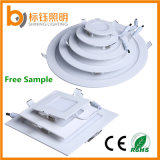 Slim 3W 6W 9W 12W 15W 18W 24W Round/Square LED Ultra-Thin 85-265V 3 Years Warranty Panel Light