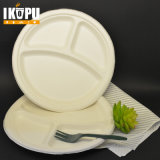 Disposable White Sugarcane Pulp Plates