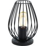 Black Metal Art Design Wrought Iron Craft Cage Table Lamp