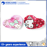 Heart-Shaped Multicolor Melamine Dinnerware Dinner Plate