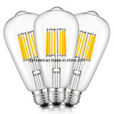 ST64 Energy Saving 4W LED- 40W Equivalent ][UL Listed][2200K Warm]E26 Based
