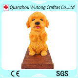 Top Quality Cute Dog Figure Design Resin Mobile Phone Holder Office Stationery