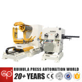 Space Save 3 in 1 Aluminium Rewinding Sheet Uncoiler Nc Servo Feeder Cum Straightener (MAC2-800)