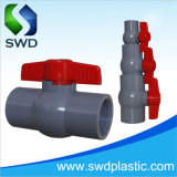 PVC Plastic Grey Color Compact Ball Valves