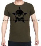 Custom Cheap Black Star Skull Screen Printed T Shirt