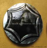 Fashion Garments DIY Natural Black Shell Snap Buttons Jewelry Accessory