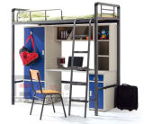 Low Price Popular College Metal Loft Bunk Bed with Desk, Dormitory Bunk Bed