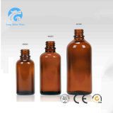 1oz Amber Boston Round Glass Bottle for Pharmaceutical Liquid Medecine