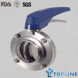 Sanitary Stainless Steel Butterfly Valve (with plastic Multi-position handle)