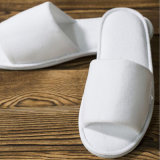 Hotel Collection Amenity Disposable Velour Open-Toe Slippers