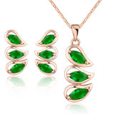 Alloy 18K Gold Plated Crystal Stone Jewelry Diana Engagement Set