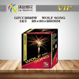 1 Inch Wolf Song 25 Shots Professional Consumer 1.4G Nighty Outdoor Celebrated Display Fireworks Tortas