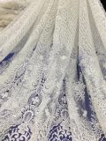 New Design High Quality Embroidery Mesh Pearl Beaded Lace Fabric for Wedding Dress