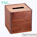 Yrf Wholesale Handmade Weave Durable Wooden Square Leather Tissue Box