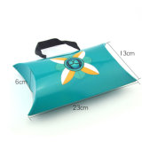 Fashion Design Printing Pillow Shape Paper Bag Storage Gift Food Chocolate Candy Snack Packaging Box with Handle