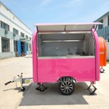 Chinese Factory Wholesale Price Moving Food Kiosk Hot Dog Truck, Selling Mobile Kitchen Food Trailers in Europe