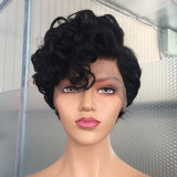 Pixie Cut Wig Short Wavy Wig Brazilian Human Hair Wigs 13X6 Short Bob Lace Front for Black Women Side Part