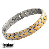 Boday Balance Stainless Steel Magnet Bracelet with 4in1 Energy Stone