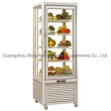 Upright 4 Side Glass Refrigerated Cake Showcase Display Cabinet