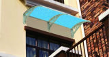 1000*1200mm Stainless Steel Frame Roof Polycarbonate Awning