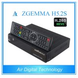 Newest TV Decoder Engima2 Linux Twin DVB S/S2 H. 265 Decoding Zgemma H5.2s