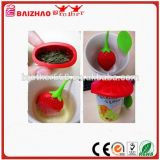 Fashion Plastic Novel Strawberry Strainer Silicone Tea Infuser