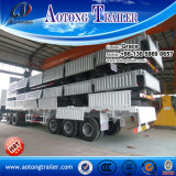 China Factory 3 Axle 40FT Side Wall Flatbed Container Trailer / Bulk Cargo Trailer Truck for Sale