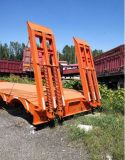 China 2 Axle 3 Axle Secondhand Low Bed Truck Semi Trailer Low Price for Africa