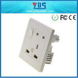 Socket with USB Charging Ports Connection Wall Plate Plug