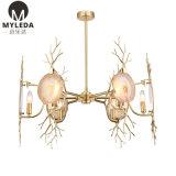 Modern Home Hanging Brass Agate Chandelier Pendant Lamp