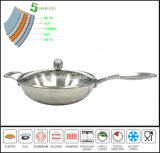 Wok Chinese 5 Ply Composited Body Wok