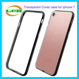 Ultrathin Transparent PC+TPU Cases with Electroplating Button for iPhone 7