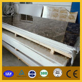 UV Coating Marble Looking Raised Curtain Molded Wall Panels