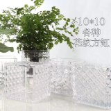 Beautiful Clear Decorated Colored Glass Vase Factory Price