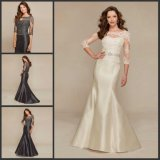 Lace Sleeves Party Prom Gowns Mermaid Bridesmaid Dresses Y1021