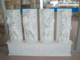Hand Carved Garden Sculpture, White Marble Stone Figure Statue Carving