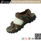 Leather Unper Breathable Men′s Sandal Shoes 20034