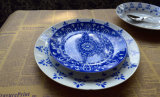 Blue and White China Middle East Pattern Star Hotel Dinnerware