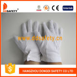 Ddsafety 2017 White Cotton Parade Glove Steel Button Work Glove