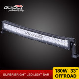 180W 33inch Hot Curved Light Double Row LED Light Bar