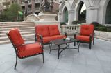Latest Elegant Garden Furniture Cast Aluminum Chat Group Set