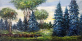Forest Landscape Oil Painting for Home Decoration